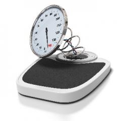 broken bathroom scales, overweight concept obesity